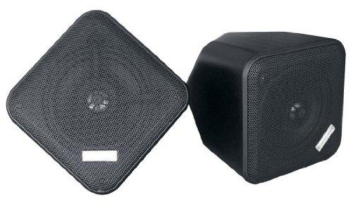 Pyle Home PDWP5BK - 5 Inchs Weatherproof Indoor/Outdoor Full Range Two-Way Speaker Enclosures (Black) (Pair) by Pyle
