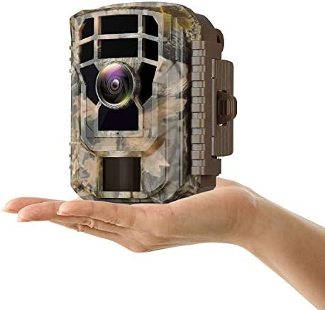 "Campark Mini Trail Camera 1080P HD Game Camera Waterproof Wildlife Scouting Hunting Cam 12MP with 120° Wide Angle Lens and Night Vision 2.4"" LCD IR LEDs"