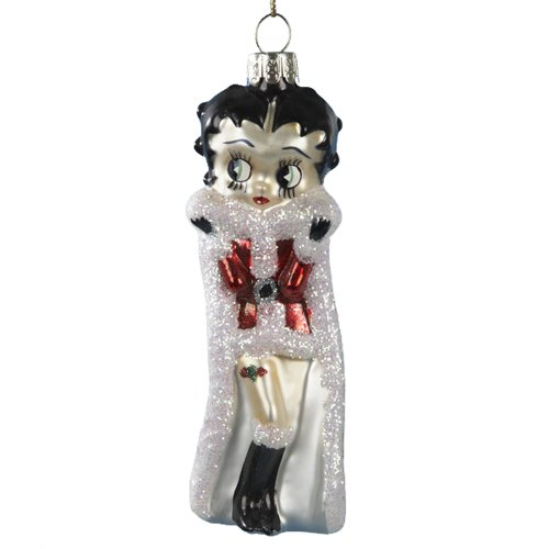 [Kurt Adler Betty Boop in Santa Outfit Glass Ornament] (Betty Boop Outfit)