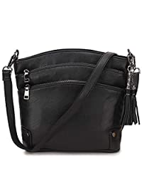 Crossbody Purse for Women, Faux Leather Tassel Shoulder Bag for Girls with 2 Removable Strap VONXURY