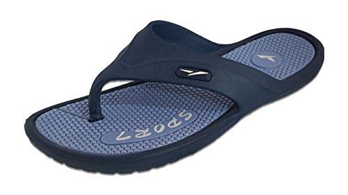 Mens Rack Flop Toned Sole Blue Sport Massage Slippers Flip Two Slipper 5gOBqd1g