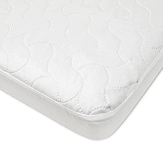 American Baby Company Waterproof Fitted Porta/Mini Crib Protective Mattress Pad Cover, White (1 Count), for Boys and Girls
