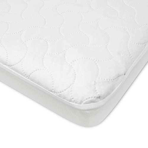 American Baby Company Waterproof Fitted Porta/Mini Crib Protective Mattress Pad Cover, White