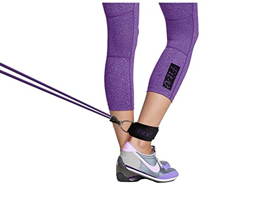 Padded Ankle Strap by FIT U (2 Pack) Perfect For Cable Machine Workout Fitness Cuffs For Ab, Glut & Leg Fit For Women & Men Weights Exercises