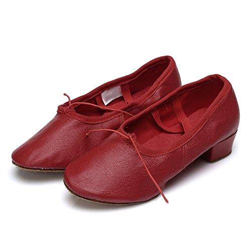 Chaussures De Danse Latine Roymall Womens Model 101 Red-2