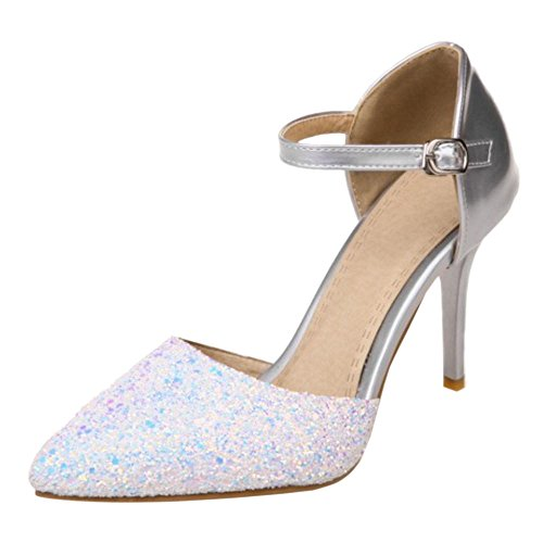 Chaussures Talons Silver Hauts VulusValas Mariee Femmes de Sandales w6qgwpPZtx