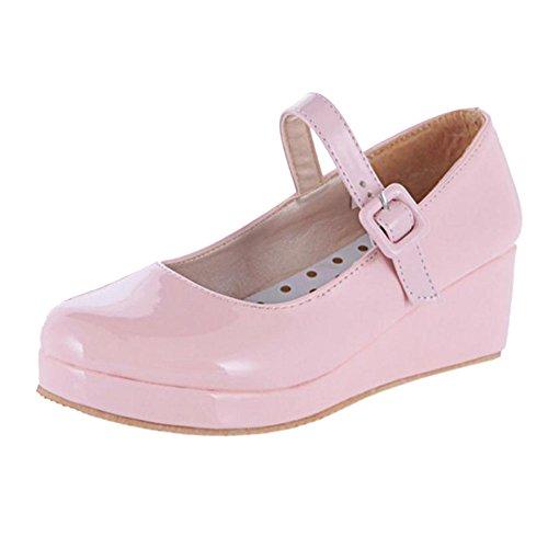 Pink Mujer RAZAMAZA para Zapatos Tacon de 14 Cuna xggwqaY1B