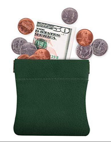 Genuine Leather Squeeze Coin Purse, Pouch Made IN U.S.A. Change Holder For Men/Woman Size 3.5 X ()