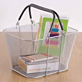 Mini Tote Basket - Silver Mesh by Design Ideas