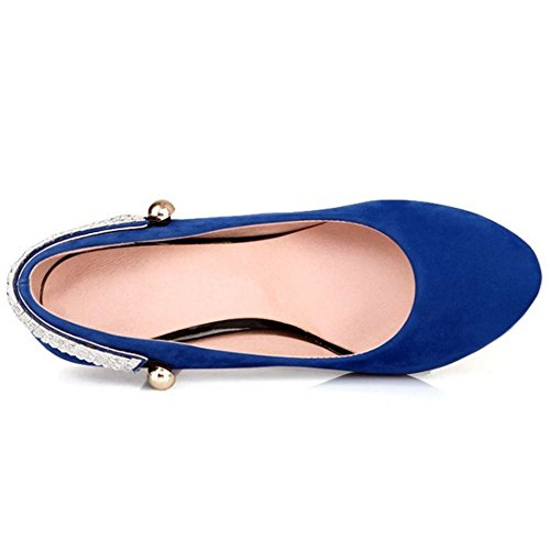 COOLCEPT Damen Elegant High Heel Pumps Blue