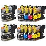 Prestige Cartridge 10 x LC-127XL LC-125XL Tintenpatronen, schwarz/cyan/magenta/gelb