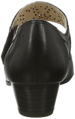 Zeppa Sandali Donna 24300 Con Caprice black Nero 05tnq