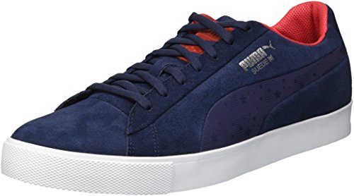 PUMA Golf Men's Suede Golf Shoe, Peacoat, 9.5 M - Suede Peacoat