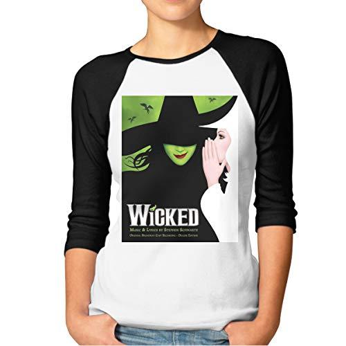 Baseball Musical (WuLion Wicked The Musical Women's 3/4 Sleeve Raglan Baseball Tshirt L)