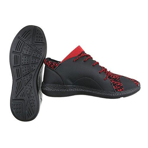 Ital-Design - Zapatillas altas Hombre rojo/negro