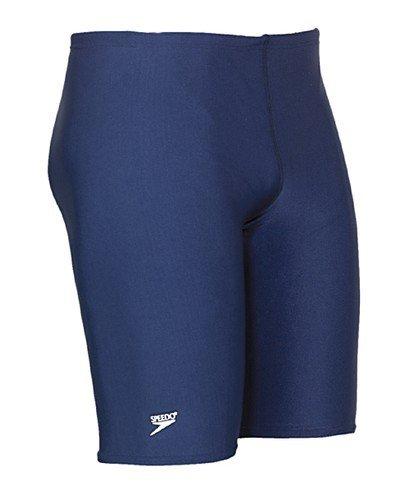 Speedo Men's PowerFLEX Eco Solid Jammer Swimsuit,36,Navy