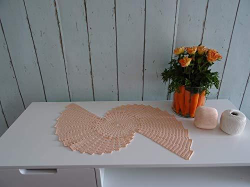 Spiral Crystal Dekoration Collection 051 Salmon Häkeln