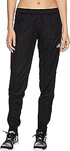 adidas Womens Tiro17 TRG Pant, Black/Silver, Large