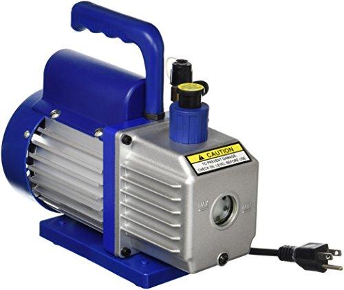 Smartxchoices 3,5 CFM 1/4HP Single-Stage Rotary Vane Deep Vacuum Pump 3 CFM HVAC Air Tool R410a,Blue (VP 125+,110V)