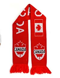 Knitted Sport Scarf, 58 Inch Long - Canada, Red