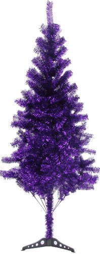 Hb 6' Ft Sparking Gorgeous Folding Artificial Tinsel Christmas Tree Purple Color 450 Tips (Christmas Color Tree)