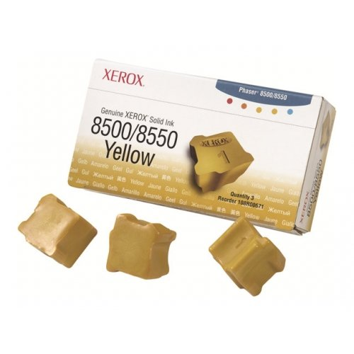 Xerox 108R00671 Genuine Xerox - 3 - yellow - solid inks - for Phaser 8500DN, 8500N, 8550DP, 8550DT, 8550DX by Xerox