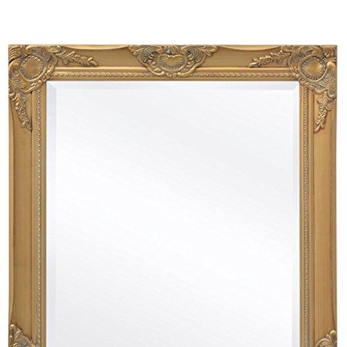 BLXCOMUS Wall Mirror Baroque Style 39.4''x19.7'' Gold mirror With four mounting hooks by BLXCOMUS (Image #4)