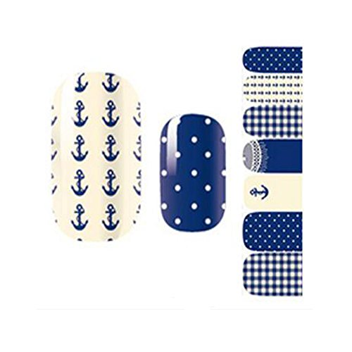 Opi Soak - 7pcs Exquisite Waterproof Cute Nail Decal Peelable Nail Stickers Nail Tools