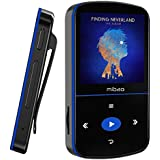 32GB Mini MP3 Player, Mibao MP3 Player with Bluetooth, Portable Music Player with Clip, Sport Pedometer, FM Radio, Vioce Recorder, Micro SD Slot, Expandable up to 64GB, Ideal for Sports