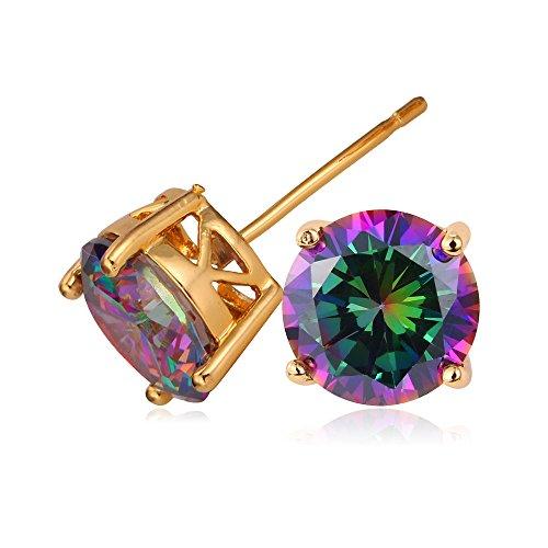 U7 Earrings Zirconia Diamond Plated