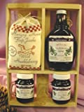Deluxe Gift Crate: 10oz Huckleberry Syrup, 2-5oz Jams & 12oz Flap Jack Mix