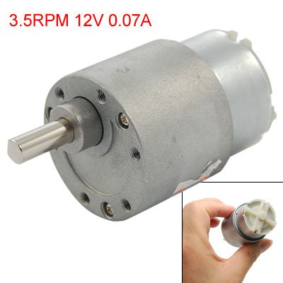 DC 12V 0.07A 3.5RPM High Torque Gear Box Electric Motor 37mm
