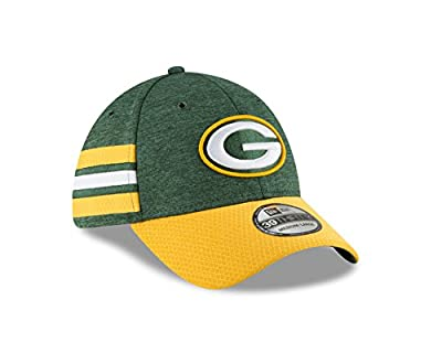 New Era Green Bay Packers Sideline Home 39THIRTY Stretch Fit Hat