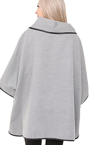 Aftershock Aftershock London London Femme Poncho Poncho Gris Femme wTqZ5t