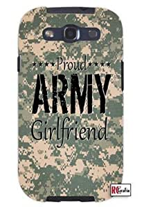 Cool Painting Proud Army Girlfriend United States USA Camo Unique Quality Soft Rubber Case for Samsung Galaxy S4 I9500 - White Case