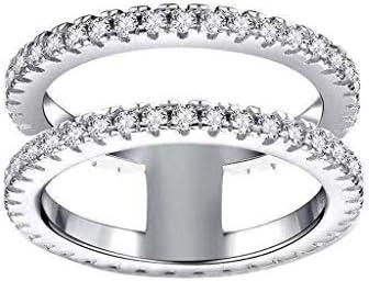 [해외]Charm Diamond Ring for Women Elegant Engagement Wedding Love Band Ring Valentine`s Day Jewelry Gift Size 5-11 / Charm Diamond Ring for Women Elegant Engagement Wedding Love Band Ring Valentine`s Day Jewelry Gift Size 5-11