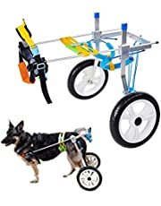 HeoBam Pet Wheelchair for Handicapped Hind Legs Small Dog Cat,Doggie,Two Wheels Adjustable Dog Wheelchair, cart, 7 Sizes for hind Legs Rehabilitation