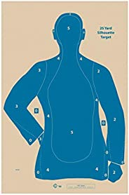 """Official NRA B-21E Target, 21 Yard Target, Shooting Paper Targets, 22.5"""" x 35"""", Police Silhouette, B"""