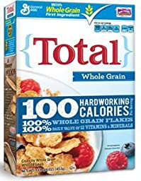 Total Cereal, Whole Grain, 10.6 oz, (pack of 3)
