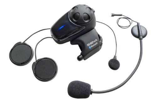 Sena SMH10-11 Motorcycle Bluetooth Headset / Intercom with Universal Microphone Kit (Single) by Sena