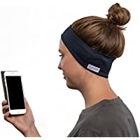 SleepPhones Wireless | Bluetooth Headphones | Ultra Thin Speakers | Lightweight & Comfortable Headband | Includes Micro USB for Recharging | Galaxy Blue - Breeze Fabric (Size M)