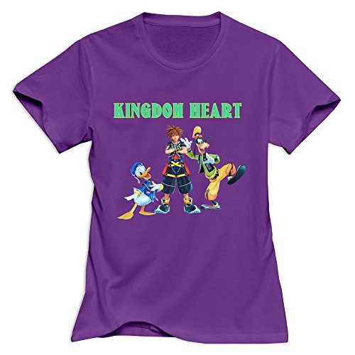 Kingdom Hearts 3 Hot 100% Cotton Purple T Shirts For Womens Size XXL