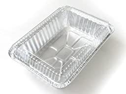Disposable Aluminum 2 1/2 Lb. Oblong Pan with Clear Dome Lid #250P (100)