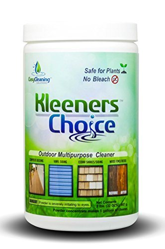 Kleeners Choice Outdoor Multipurpose Cleaner and Mildew Stain Remover for Decks, Fences and Roofs, 2 Pounds