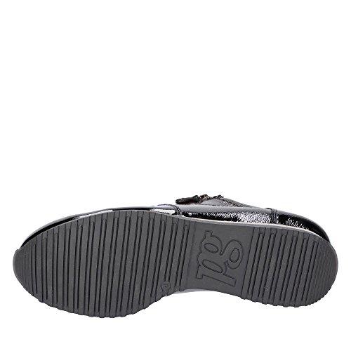 Lederinnenausstattung Sneaker Damen Schwarz Green Feinstem aus 001 Lackleder 4545 Paul a6w1qgFq