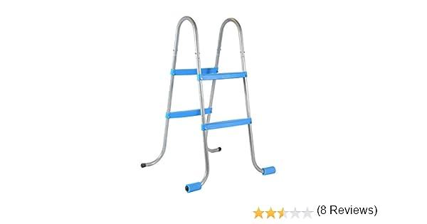 Piscinas Toi 4839 Escalera de 4 peldaños para Piscinas Desmontables, Blanco, 56x70x100 cm: Amazon.es: Jardín