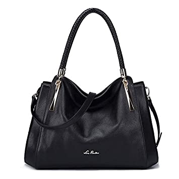392a3297771f ... Luxury Handbags Designer Brand Ladies Shoulder Bag Casual Tote Bag  Fashion Cow Leather Women Bags N50 - black Online at Low Prices in India -  Amazon.in