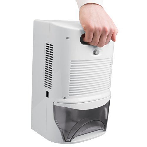 Ivation IVADM45 Potente deshumidificador inteligente termoeléctrico de tamaño mediano con humidistato automático: para espacios pequeños de hasta 100 pies cuadrados