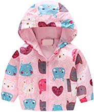 Evelin LEE Baby Jacket Outwear Floral Zipper Spring Autumn Windproof Hooded Coat