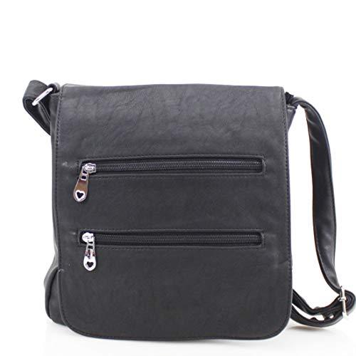 Crossbody Designer Bag Over Ladies Zip Shoulder New Black Front Womens Bag Messenger 1BxZW6tZnw